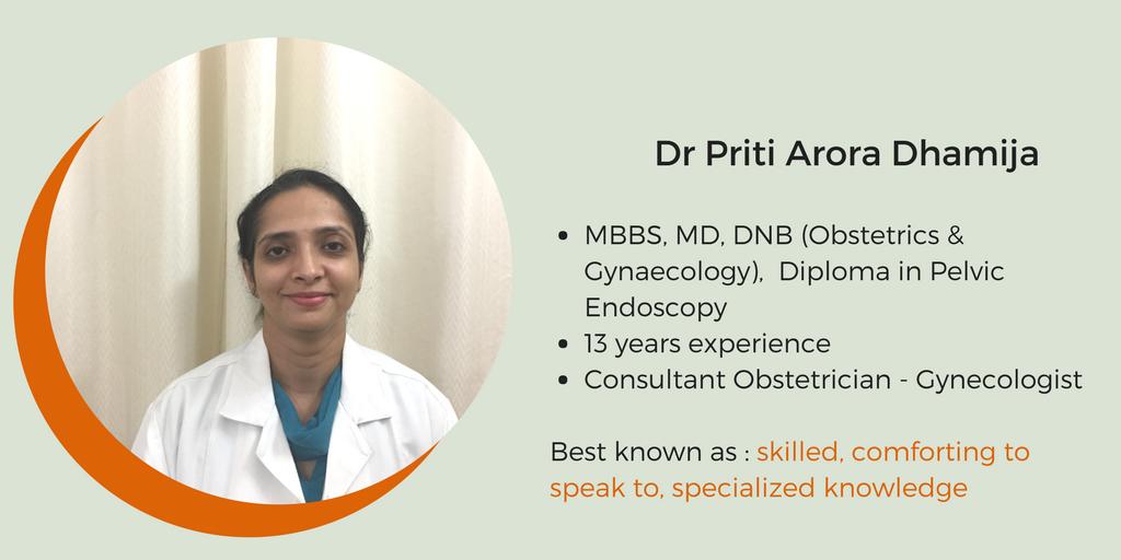 Best-Gynecologist-in-Delhi - Dr-Priti-Arora-Dhamija