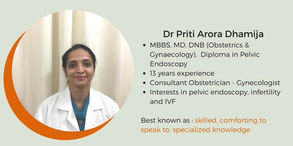 Dr Priti Arora Dhamija-Best -gynecologist-in-delhi