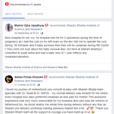 Facebook reviews - oct 2018
