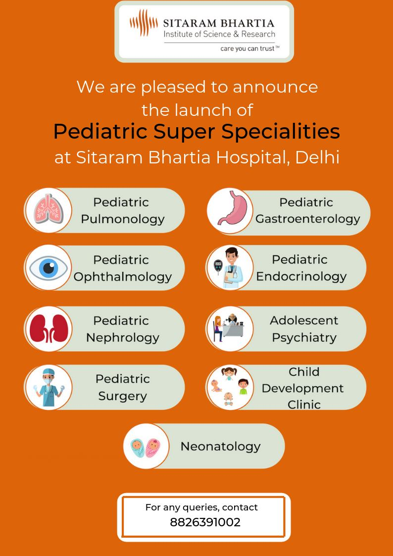 Launch of Pediatric Super Specialities