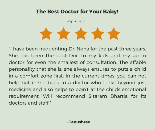 Dr Neha Joshi-testimonial